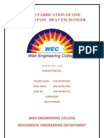 heat exchanger project final REPORT