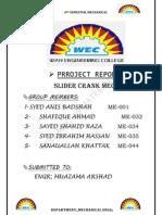 slider Crank mechanism term Project Report