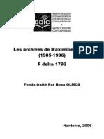 Les archives de Maximilien Rubel