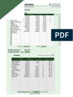 Debt Reduction Calculator 20