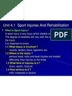 8. Sport Injury