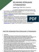 Latar Belakang Kerajaan Uthmaniyah Print