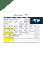 Flynn Academic Calendar - October 2012