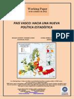PAIS VASCO. HACIA UNA NUEVA POLITICA ESTADISTICA (Es) BASQUE COUNTRY