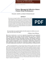 The Power of Voice Managerial Affective States and Future Firm Performance.