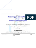 Machining Process Lecture 1