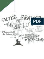 Fautes Graves en architecture