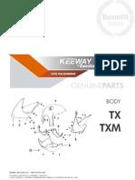 Despiece Keeway TX-TXM 200 CC