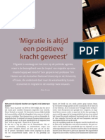 'Migratie is altijd een positieve kracht geweest' - Interview Tim Hatton in Eos Memo 03