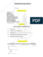 Individual Study Format 2012_13