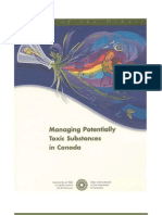Managing Potentially Toxic Substances in Canada - A State of the Debate Report