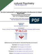 Rol de Las Comunidades en El Avance de Los Objetivos de Reducir Las Brechas en Salud Mental