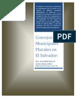 Concejos Municipales Plurales en El Salvador_Una necesidades hacia el avance democrático