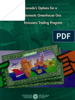 Canada's Options for a Domestic Greenhouse Gas Emissions Trading Program