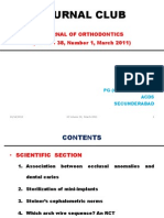 Journal of Orthodontics 2011 March Issue