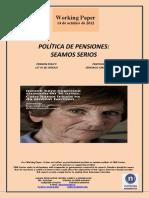 POLÍTICA DE PENSIONES. SEAMOS SERIOS (Es) PENSION POLICY