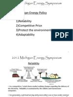 Michigan Energy Symposium - A Path Forward