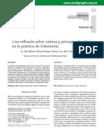 """VARGAS CHAVEZ, Marta Yolanda - CORTES VILLARREAL, Gabriela (2010) - """"Una reflexión sobre valores y principios bioéticos e la práctica de enfermería"""