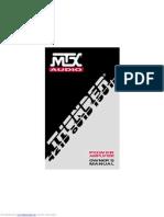 MTX -Thunder 421D (Chrome) Mono Car Amp - Manual