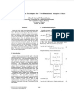 Orthogonalization Techniques for Two-dimensional Adaptive Filters