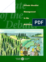 Private Woodlot Management in the Maritimes