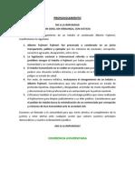Pronunciamiento contra el indulto al reo Alberto Fujimori