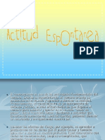 ACTITUD ESPONTANEA