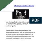 Juan Domingo Perón y el socialismo nacional