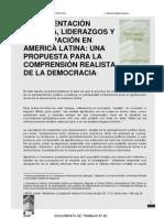 Representación, liderazgo y participación en América Latina. Marcelo Mella