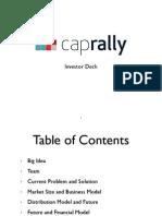 CapRally Investor Deck - V2