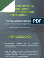 La relación entre la discriminación auditiva y trastorno Fonologico