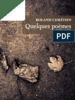 Editions Cimus Roland Chretien Quelques Poemes Extrait
