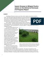 Utilizing Warm-Season Grasses to Mitigate Poultry Tunnel Fan Emissions on the Delmarva Peninsula