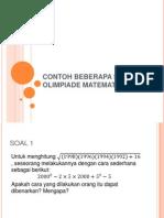 Contoh Beberapa Soal Olimpiade Matematika