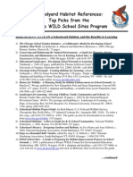 Schoolyard Habitat References