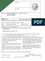 Labor Law Violation investigation re