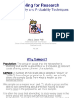 Sampling for Research Green 2005 Presentation