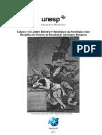 MOREIRA Neto-ME UNESP-Lukacs Limites Historico Ontologicos Da Sociologia