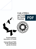 Code of Ethics and Guidelines for Sustainable Tourism