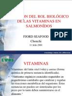 Rol Biologico de Las Vitaminas en los Salmonidos