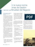 BS 25999. Nueva Norma Para Sistemas de Gestion de La Continuidad Del Negocio-2008