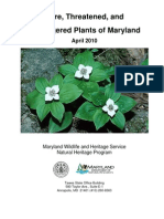 Rare, Threatened, and Endangered Plants of Maryland, April 2010