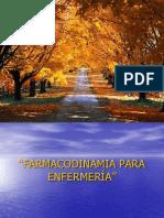 FARMACODINAMIA PARA ENFERMERÍA