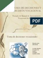 LA TOMA DE DECISIONES Y LA INDECISIÓN VOCACIONAL