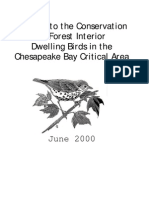 A Guide to the Conservation of Forest Interior Dwelling Birds in the Chesapeake Bay Critical Area