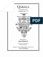 Jean Dubuis, Qabala Vol 3