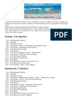 Osheanic Festival - Programa Português