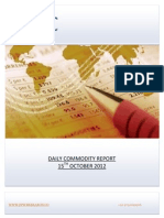 DAILY COMMODITY REPORT BY EPIC RESEARCH- 15 OCTOBER 2012