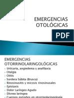EMERGENCIAS OTOLÓGICAS