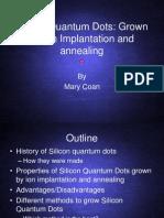 Silicon Quantum Dots
